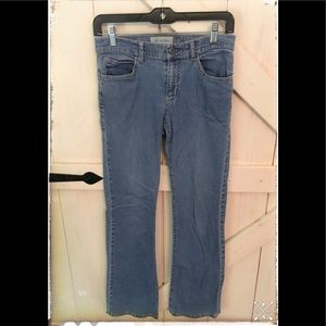 GAP Low Rise Flare Stretch Jean Size Two- Worn.